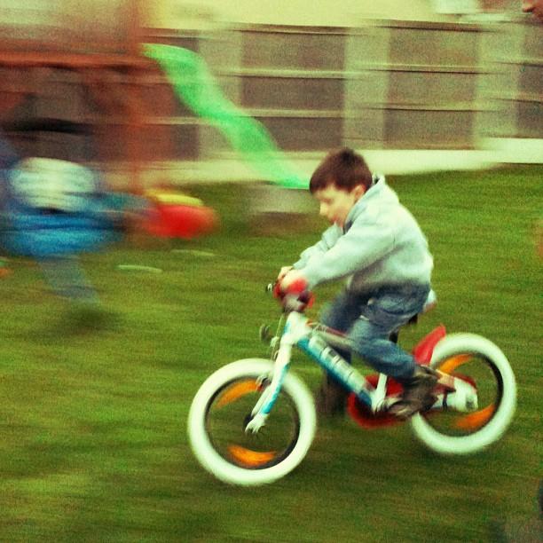 wilf on his bike