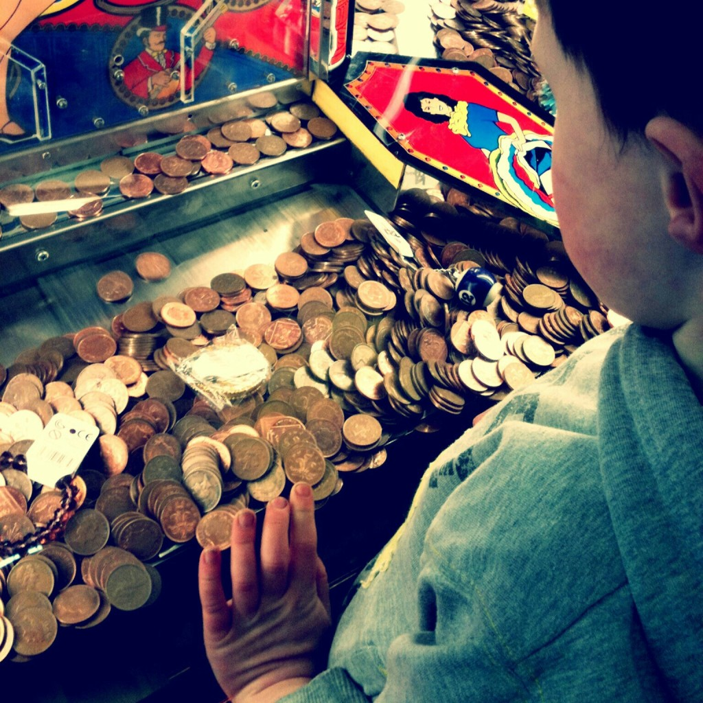"""Man, how can I win all the pennies?"""