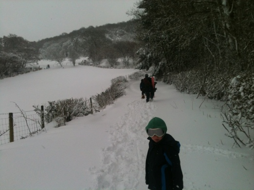 ...went in search of a good sledging field