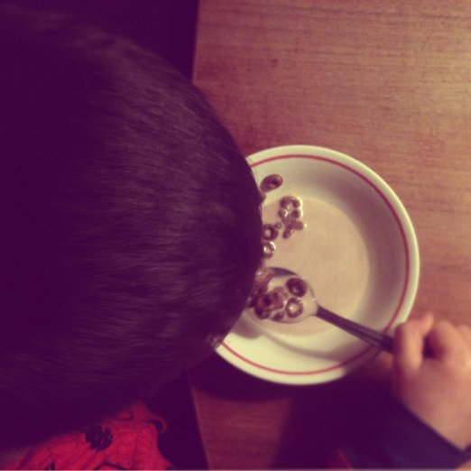 ...and had a midnight snack or two...chocolate cheerios are THE best for this!