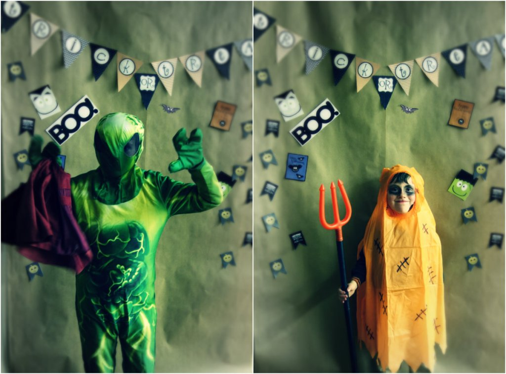 alien and pumpkin